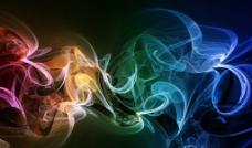 五彩烟雾图片