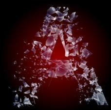 玻璃碎片字母