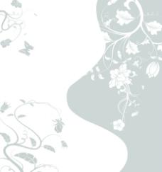 蝴蝶黑白花图片