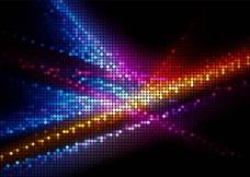 动感光线圆点马赛克商务科技背景 含cdr图片